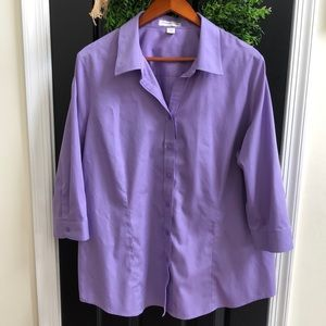 Coldwater Creek no iron button-down top 2X